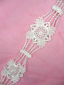 GB25 Antique White Venise Lace Trim 2""