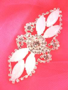 GB335 Jelly Marquise Crystal Rhinestone Applique Embellishment 3.25""