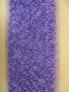 "GB338 Purple Lavender Lace Wedding Bridal Floral Sewing Trim 3.5"""
