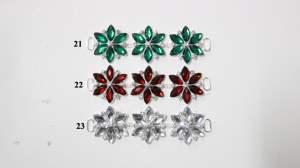 """GB366 Green Crystal Rhinestone Applique Embellishment 4.25"""""""