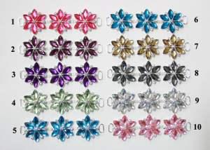 """GB366 Champagne Crystal Rhinestone Applique Embellishment 4.25"""""""