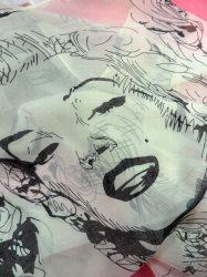 """GB369 Marilyn Monroe Chiffon Silk Scarf 52"""""""