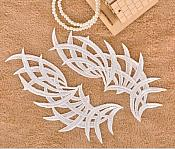 """Embroidered Appliques White Mirror Pair Venice Lace Craft Supplies Patch 8.5"""" (GB433X)"""
