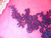 """Embroidered Appliques Grape Mirror Pair Floral 12"""" (GB459X)"""