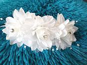 Rhinestone Floral Bridal Headpiece Comb Accessory (GB473)