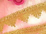 "Gold Trim Metallic Victorian Edging for Sewing and Crafts DIY 1.5"" (GB499)"