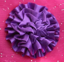 "GB5 Fluffy Floral Bow Applique 3.5""  8 Colors Available"