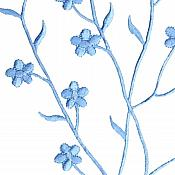 """Embroidered Applique Black Floral Vine Iron On Patch DIY Clothing Designs 17"""" (GB503)"""