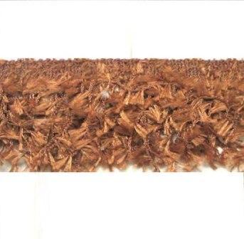 E2585 Cocoa Hairy Gimp Fringe Sewing Trim