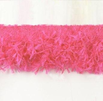 E2585 Fuchsia Hairy Gimp Fringe Sewing Trim