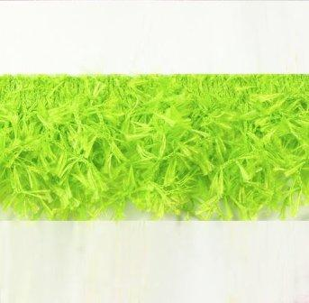 E2585 Lime Green Hairy Gimp Fringe Sewing Trim