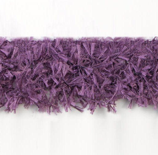 E2585 Plum Hairy Gimp Fringe Sewing Trim