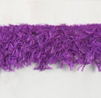 E2585 Purple Hairy Gimp Fringe Sewing Trim