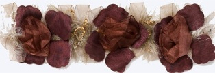 E5665 Mauve Wine Flower Stretchy Sewing Trim