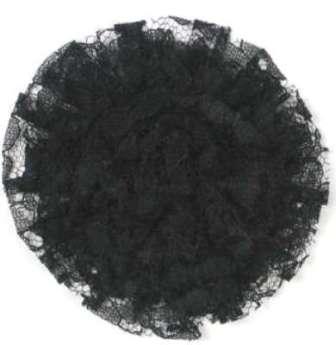 """E456 Black Lace Designer Brooch 4"""""""