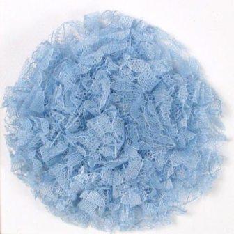 """E456 Blue Lace Designer Brooch 4"""""""