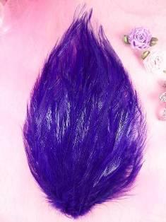 "MR002 Purple Feather Pad Applique 7"""