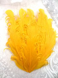 MR28 DIY Yellow Feather Pad Applique  6""