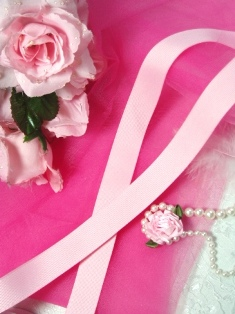 R3  Pink Grosgrain Craft Ribbon 7/8""