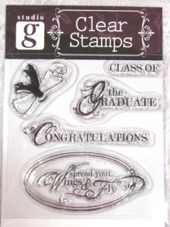 RS18  Clear Stamp Graduation Stamps