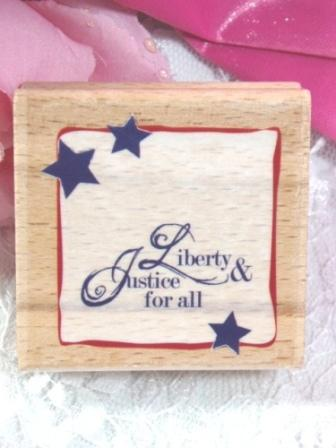 RS7  Liberty and Justice for all Rubber Stamp