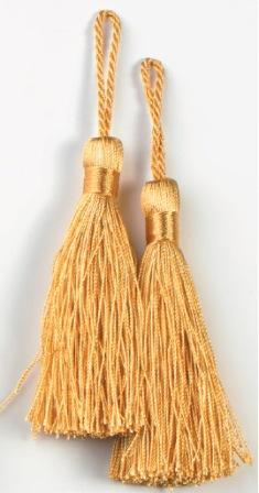 """E5524  Set of Two Gold Tassels 3.75"""""""