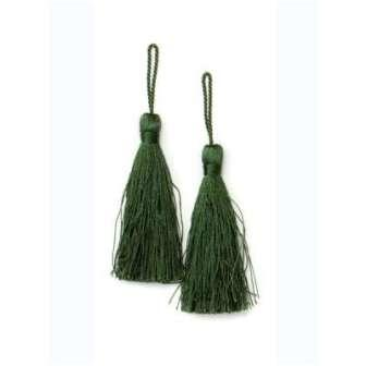 E5524  Set of Two Hunter Green Tassels 3.75""