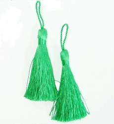 E5524  Set of Two Lime GreenTassels 3.75""