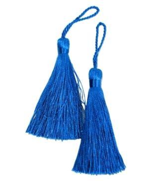 "E5524  Set of Two Royal Blue Tassels 3.75"""