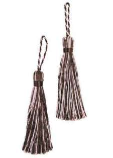 E5524  Set of Brown Pink Tassels 3.75""