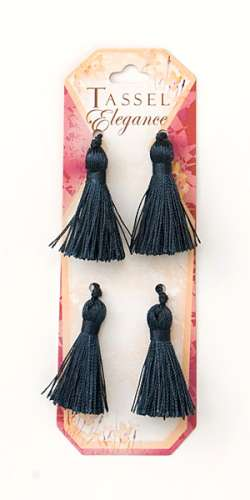E5970  Set of ( 4 )  Denim Mini Tassels 2""
