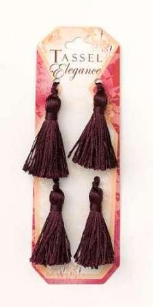 E5970  Set of ( 4 )  Eggplant Mini Tassels 2""