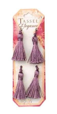 E5970  Set of ( 4 )  Plum Mini Tassels 2""