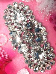 STS81 Crystal Rhinestone Applique Embellishment  7""