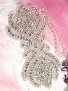 XR11 Victoria Crystal Glass Beaded Rhinestone Applique 6""