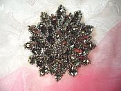 "Smoke Sequin Applique Floral Beaded Iron on Patch 3"" (XR364)"