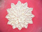 "White Sequin Applique Floral Beaded Iron on Patch 3"" (XR364)"