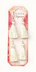 """E5970  Set of (4 )   Ivory Mini Tassels 2"""""""