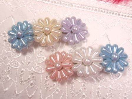 HB9  Set of (2) Pearl Beaded Hair bow