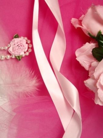 R1  Pastel Pink Satin Craft Ribbon 7/8""