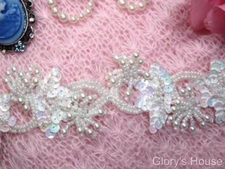 White Ivory & Crystal Trims