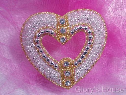Heart Sequin Appliques