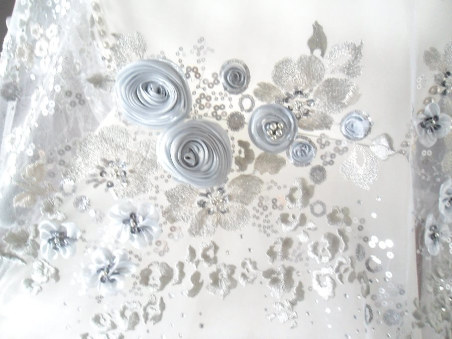 3D bridal applique fabric