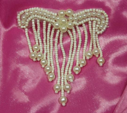 A0229 Elegant Ivory Beaded Victorain  Applique 3\