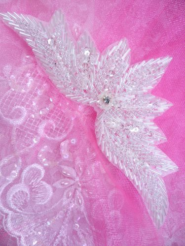 0084 Crystal Motif Sequin Beaded Applique 7\