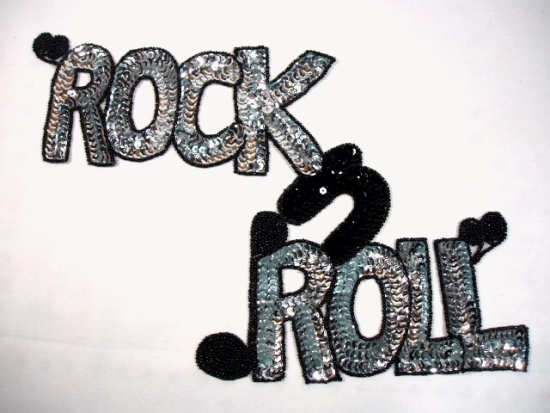 0172 Rock -N- Roll Fifties Sequin Beaded Applique 14\