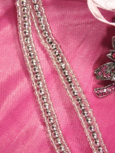 0287  Silver Beaded Sewing Trim 1/4