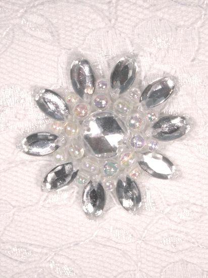 0342  Clear / Crystal AB Jewel Beaded Applique 1.5\