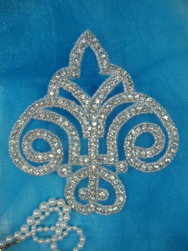 RM0423 REDUCED Genuine Rhinestone Beaded Applique 5.5