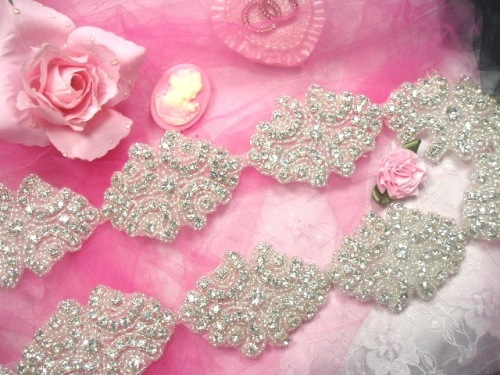 0477  Cinderella  Genuine Rhinestone Beaded Trim 2